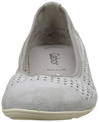 para Mujer 19 Gabor Bailarinas Gris Shoes Fashion Stone HwgxqIptx