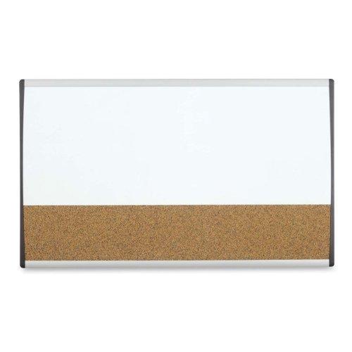 Quartet Arc Cubicle Combination Board, 30quot; x 18quot;, Whiteboard/Cork Surface, Aluminum Frame (ARCCB3018) by Quartet
