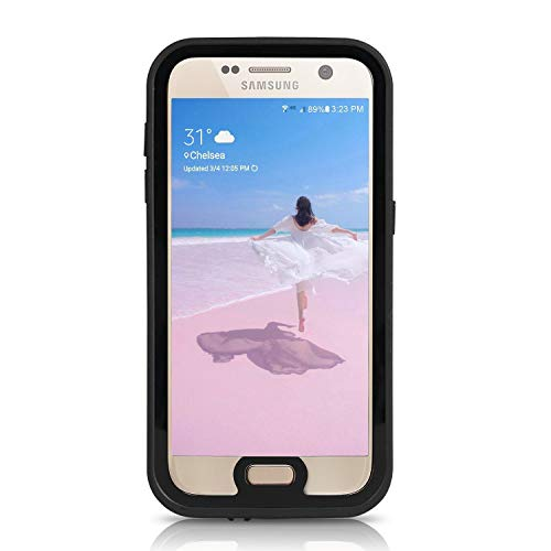 meritcase Galaxy S7 Waterproof Case, Shockproof Dustproof Full-Body Rugged Protective Phone Cover with Screen Protector for Samsung Galaxy S7 (2016 Release)- Black/Clear