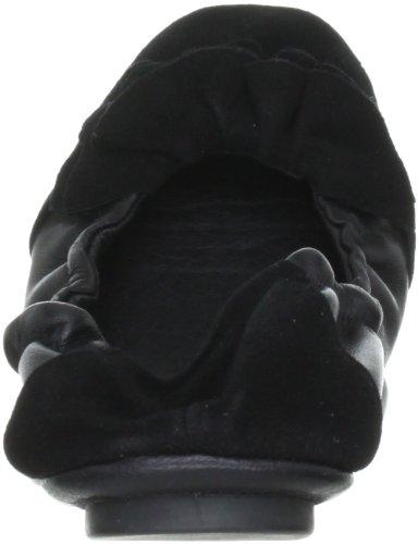 Lise Lindvig DOT 00800315 - Bailarinas de cuero para mujer, color beige, talla 39 Negro (Nero (Schwarz (Black)))