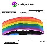 MadSportsStuff Rainbow Headband