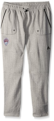 Adidas Terry Pullover (MLS Colorado Rapids Ultimate Worn French Terry Jogger Pants, Small, Medium Grey)
