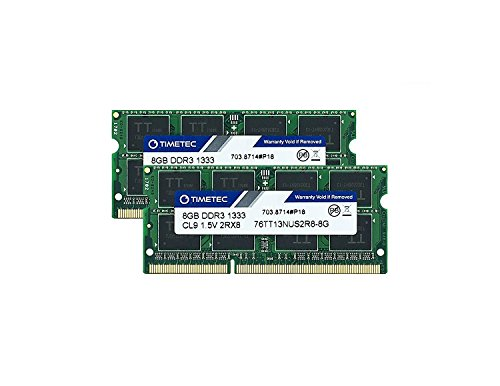 Mitac Pc Laptops (Timetec Hynix IC 16GB Kit(2x8GB) DDR3 1333MHz PC3-10600 Non ECC Unbuffered 1.5V CL9 2Rx8 Dual Rank 204 Pin SODIMM Laptop Notebook Computer Memory Ram Module Upgrade(16GB Kit(2x8GB)))