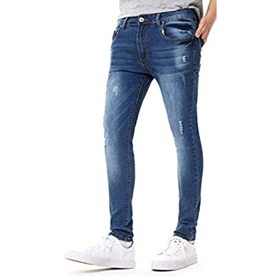 DIABOLO Men's Slim Fit Stretch Skinny Denim Jeans, Black, Blue at  Men's Clothing store