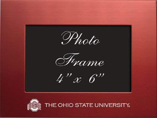 LXG, Inc. Ohio State University - 4x6 Brushed Metal Picture Frame - Red