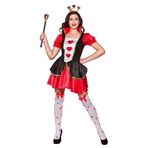 Queen of Hearts Ladies Fancy Dress Costume Halloween -