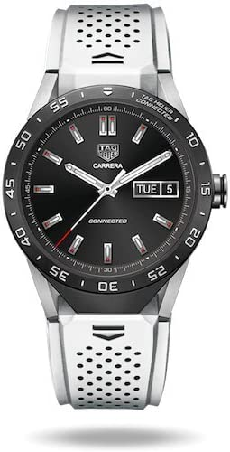 TAG Heuer CONNECTED Luxury Smart Watch (Compatible with Android/iPhone) (White)
