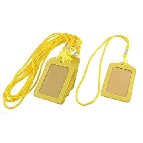 Pelle eDealMax Faux verticale Impresa School Nome scheda ID Badge Holder 8pcs by eDealMax