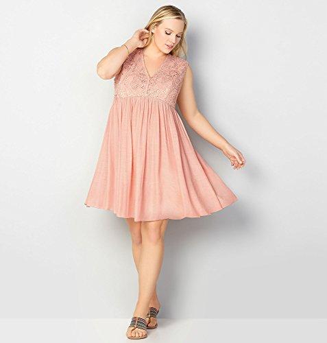 AVENUE-Womens-Crochet-Bodice-Babydoll-Dress