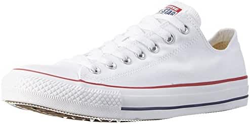 Converse Men's Classic Chuck Taylor All Star Ox Low Top Sneakers (7.5 Men 9.5 Women, Optical White)