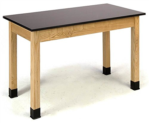 Phenolic Top Science Lab Table with Ash Frame (60 in. W x 24 in. D x 30 in. H (90 lbs.))