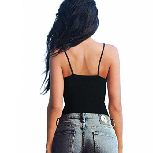 Bralette Corsetto Donne Nero Shirt Bustino T Superiori Fortan Bra Crop Le Canotta delle Parti Camicetta WxqAnRg1w