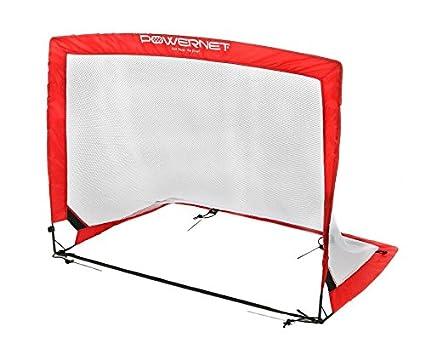 Amazon.com : PowerNet Soccer Goal Portable Popup Net   4x3 Rectangle ...