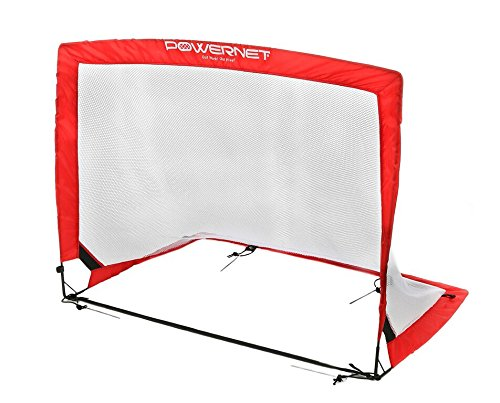 PowerNet Soccer Goal Portable Popup Net | 4x3 Rectangle | 2 Goals+1 Carrying Bag | Durable Lightweight Frame | Quick Setup Easy Folding Storage | Short Small Side Game | Technical Practice Accuracy