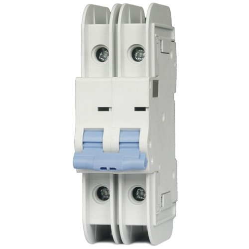 ASI NDB2T-63C20-2L DIN Rail Mount Circuit Breaker, UL489 Branch Circuit Protection, 2 Pole, 20 amp, 240/480V, General Purpose Trip Curve C