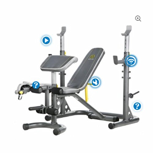 Gold's Gym.. XRS 20 Olympic Workout Bench with Squat Rack (XRS 20)