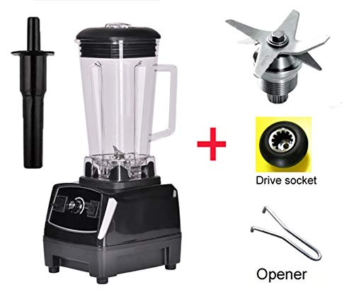 3Hp 2200W Bpa Free 2L Heavy Duty Commercial Professional Smoothie Blender Mixer Juicer Food Processor,Black Bladedrivetool,Us Plug