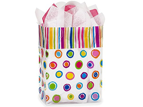 Carrier Rainbow Spots Plastic Bags (100 Pack ) 9x5x12'' by Nas