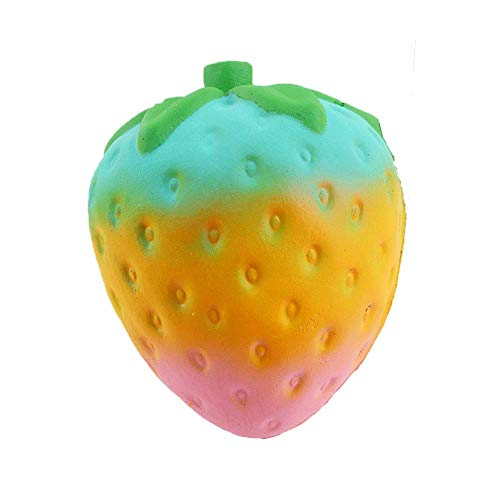 Cute Smiley Watermelon Cream Slow Rising Toys,Selinora'S Stress Cute Kawai Decompression Soft Relieve Stress Color Mixing Scented Gift for Adult Or Kids