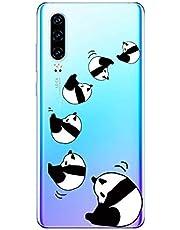 Oihxse Cristal Compatible con Huawei Nova 4 Funda Ultra-Delgado Silicona TPU Suave Protector Estuche Creativa Patrón Panda Protector Anti-Choque Carcasa Cover(Panda A3)