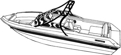 Sd Polyguard - Carver Industries 97019P Vst-19 Outboard Sd Poly-Guard Cover- Made by Carver Covers