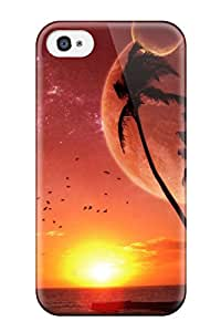New Arrival Cover Case With Nice Design For Iphone 4/4s- Maldives Holidays Sunset