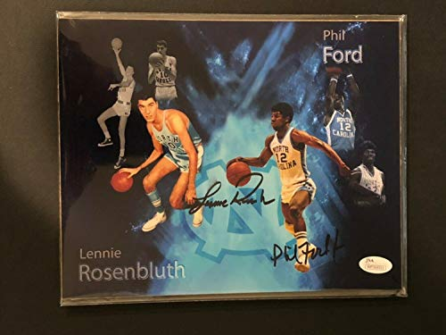 (Unc Tar Heels Phil Ford & Lennie Rosenbluth Autographed Signed Memorabilia Custom 8x10 Photo With - JSA Authentic)