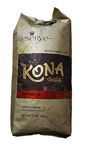 Gold Reserve 2 pound Bag of Kona Blend Whole Bean Coffee - Reserve Whole Bean Coffee