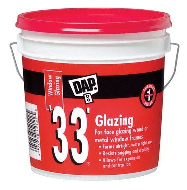 DAP INC 12019 33 Glazing Compound - Gallon White (Pack of 2)