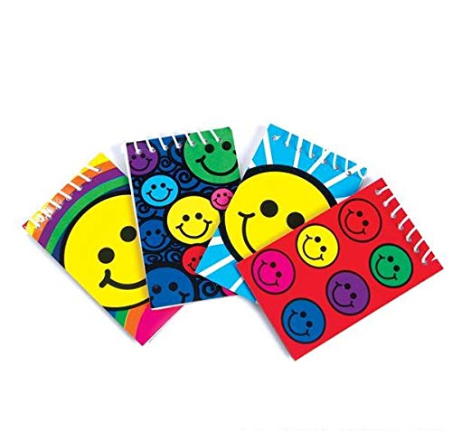Rhode Island Novelty Smiley Face Mini Spiral Notebooks | Two Dozen