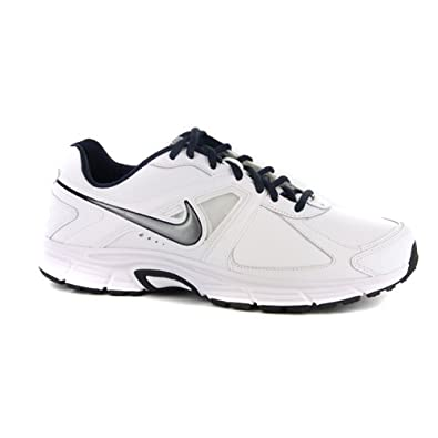 348450c7114 NIKE Mens Dart 9 Leather White Running Trainers UK 8.5  Amazon.co.uk ...