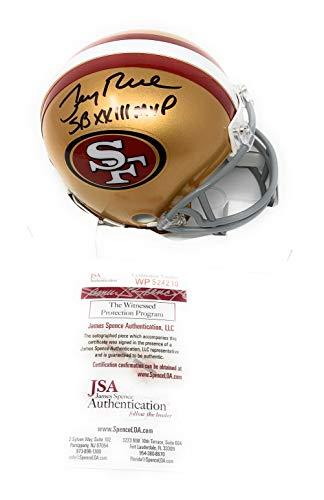 Jerry Rice San Francisco 49ers Signed Autograph Mini Helmet SB XXIII MVP INSCRIBED JSA Witnessed Certified