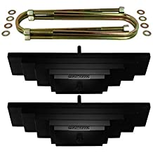"Supreme Suspensions - F250 Lift Kit 2"" Front Suspension Lift High-Strength Carbon Steel Spring Pack F250 Leveling Kit Super Duty 4WD 4x4 (Black) PRO"