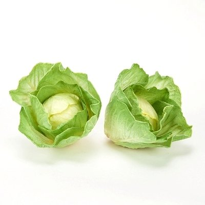 Cabbage Vegetable (Artificial Vegetables Cabbage or Lettuce Head, Fake Food, Qty 3)