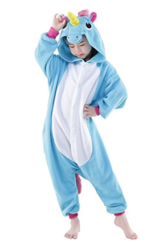 Goldtry Unicorn Animal Onesie Cute Teens Halloween Cosplay Costumes Unisex Adult Pajamas (85#, New Blue -