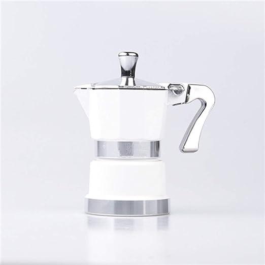 ODDINER Café Moka Pot Aluminio Mini Moka Pot Inicio Esenciales hogar Mocha Cafetera Cafetera Cafetera exprés Appliance for el hogar u Oficina Stovetop Cafeteras (Color : White, Size : 1 Cup): Amazon.es: Hogar