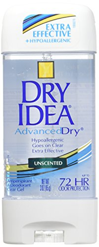 Dial 1327463 Dry Idea Unscented Clear Gel Anti-Perspirant Deodorant, 3oz Size (Pack of 6) (Dry Deodorant)