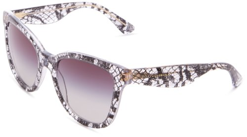 D&G Dolce & Gabbana 0DG4190 19018G54 Oversized Sunglasses,Black Lace,54 - 2013 D&g Sunglasses
