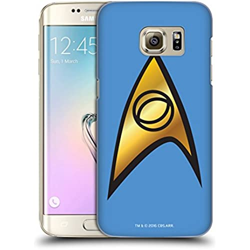 Official Star Trek Sciences Solo Uniforms And Badges TOS Hard Back Case for Samsung Galaxy S7 edge Sales
