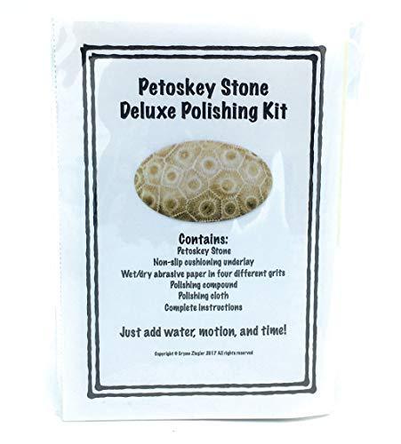 (Petoskey Stone Hand Rock Polishing Kit)