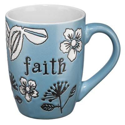 Mug-Faith-Blue by Christian Art Gifts