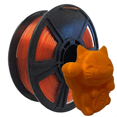 Made in The USA USA 3D Filament Translucent Orange HTPLA 3D Printer Filament 1.75mm 2.2lbs 1kg