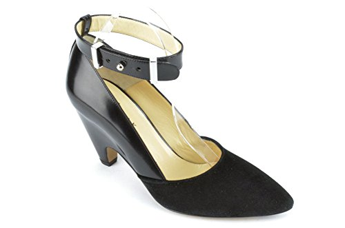 Marvin K Women's Gatsby, Black Suede Combo, 9.5 M US Aquatalia By Marvin K Pumps