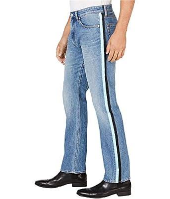 Calvin Klein Mens Side Stripe Straight Leg Jeans