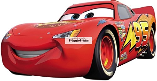 - 11 Inch Lightning McQueen Wall Decal Sticker 95 Disney Pixar Cars 3 Movie Removable Peel Self Stick Adhesive Vinyl Decorative Art Room Home Decor Kids Room Nursery Racing Decor 11 1/2 by 6 inches