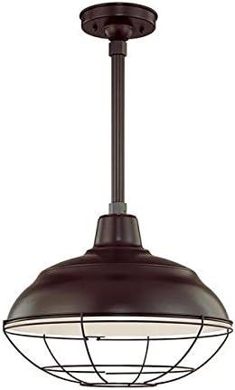 Millennium One Light RWHS17-ABR Warehouse Shade, Bronze Dark
