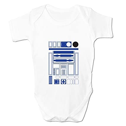 Bang Tidy Clothing Baby Boy's R2 D2 Robot Droid Baby Grow Body Suit