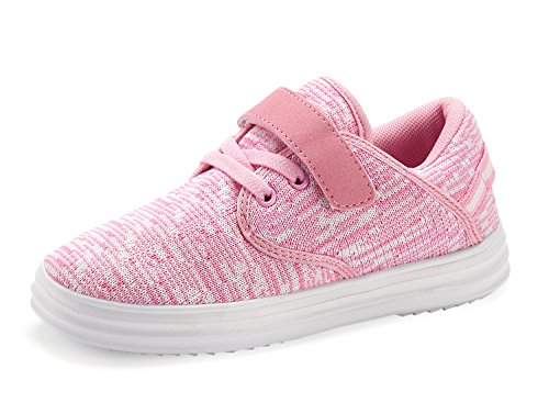 Casbeam Toddler Kid's Lightweight Sneakers Boys and Girls Cute Casual Running Shoes Pink -