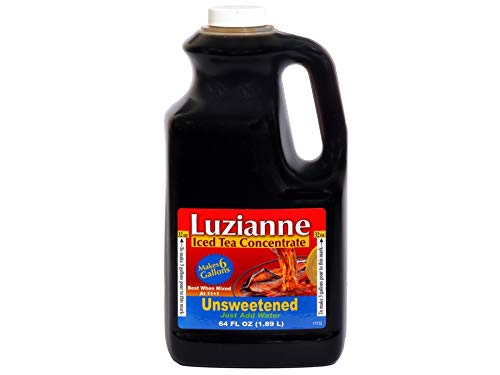 Luzianne Unsweetened Tea Concentrate, 64 oz (Pack of 6)