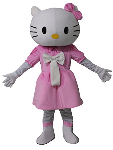 Sinoocean Hello Kitty Cat Cartoon Mascot Costume Fancy Dress Cosplay Suit -